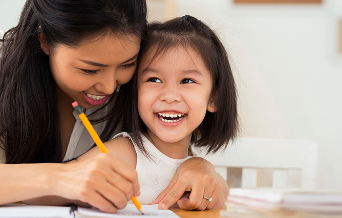 Mother and Daughter Learning